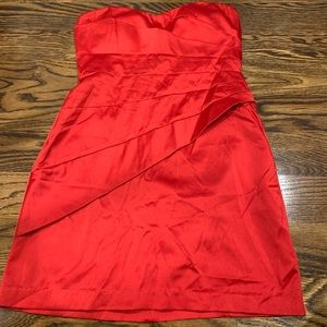 Red tubetop dress size Small